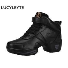 Tamanho 30-44 lucyleyte crianças e adultos sapatos de dança para mulher adequado para tênis de dança profissional