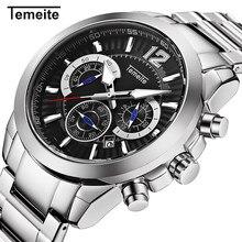 New Gold Mens Watches Temeite Brand Sport Quartz Watch Men 6