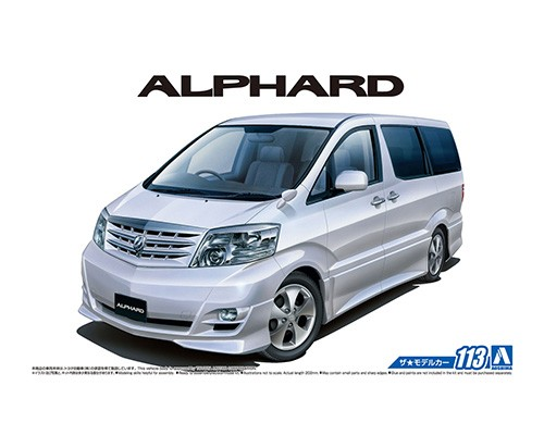 1/24 Toyota NH10W Alphard G/V MS/AS `05 Diy Assemble Car Model 05749