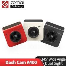 70mai a400 traço cam gravador de carro 145 fov 1440p super visão noturna livre wifi dupla visão cam controle app multi 2.0