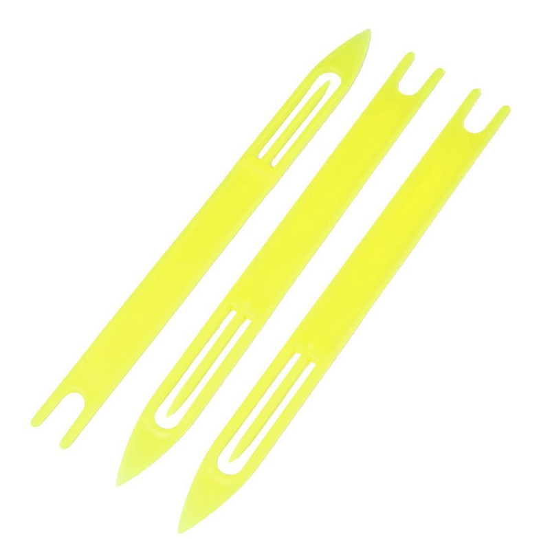 3 Pcs Yellow Plastic Fishing Net Repair Needle Shuttle Bobbin 8 in Fishing Net from Sports Entertainment