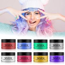 Sevich 120g ผมทิ้งสี WAX ผู้หญิงผู้ชายจัดแต่งทรงผม DIY โคลนวาง Dye ครีมเจลผม Salon Hair Coloring แม่พิมพ์ TSLM2