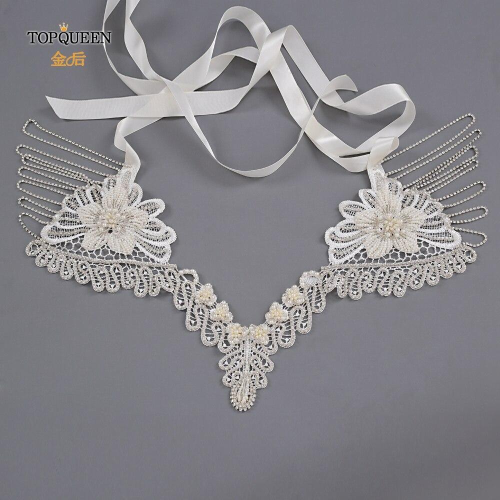 TOPQUEEN G12 Luxury Crystal Bling Beaded Bridal Wraps Beautiful Beading Wedding Shawl Jacket Bolero Wrap Bridal Wedding Wrap