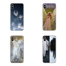 angel wings animei cute For LG G3 G4 Mini G5 G6 G7 Q6 Q7 Q8 Q9 V10 V20 V30 X Power 2 3 K10 K4 K8 2017 Transparent Clear TPU Case(China)