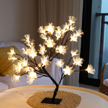 LED Tree Shape Lamp Home Party Decor Light Hapeisy Night LightFor Bedroom Christmas Party Table Decoration LED Lights EU Plug