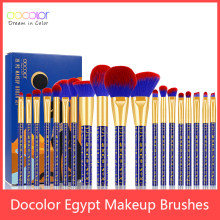 Docolor 19pcs Egypt Makeup Brushes Premium Synthetic Foundation Power Blending Face Powder Eyeshadow Bastet Cat Make Up Brushes