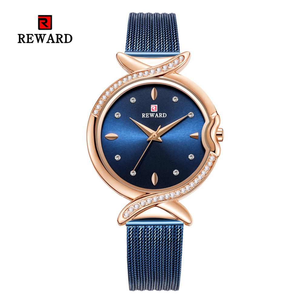 REWARD Women's Watches 2019 Diamond Luxury Fashion Ladies Watch Women Party Wrist Watch Romantic Rhinestone Designer Saati