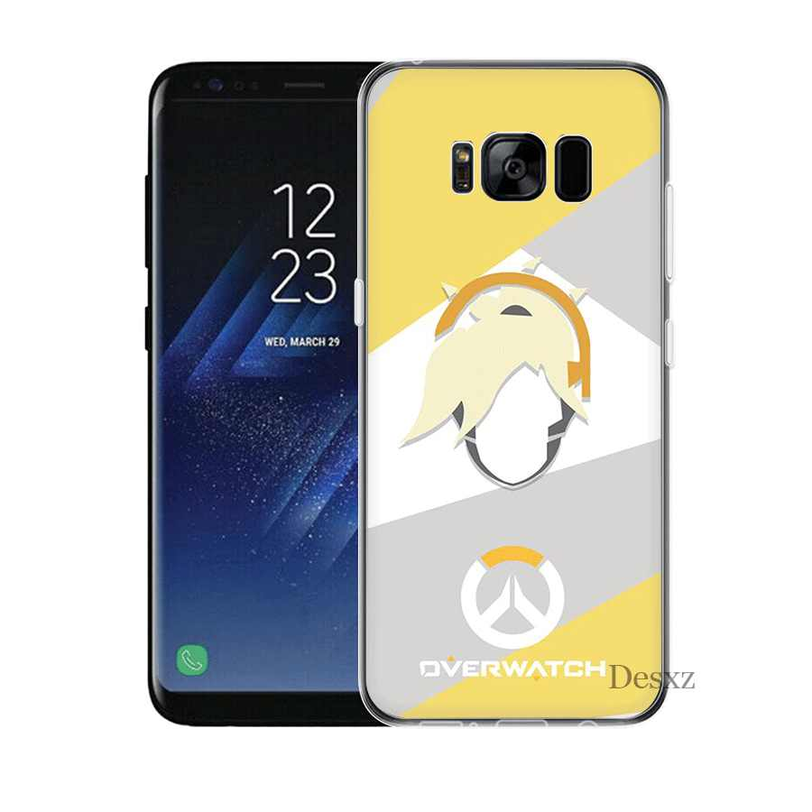 Funda de teléfono móvil para Samsung J1 J2 J3 J5 J6 J7 Prime funda dura Overwatch OW Character Mercy Shell bolsa
