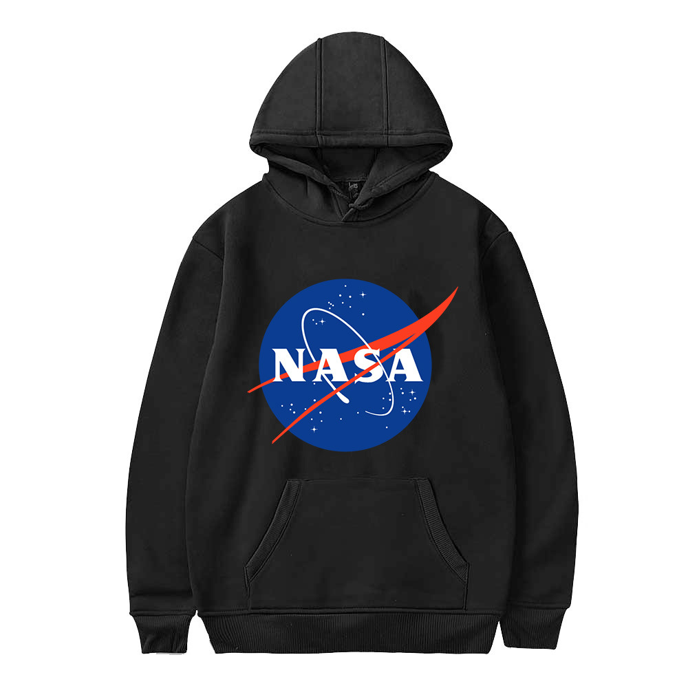 America Space Agency NASA Galaxy Earth Printed Hoodie Plus Velvet Warm And Comfortable Men And Women Lettered Sports Coat