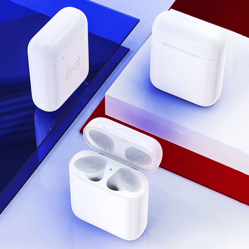 Keajor Wireless Charging Case For Apple <font><b>Airpods</b></font> Bluebooth Pairing <font><b>Pop</b></font> <font><b>up</b></font> Windows Charge Box Cover On For Air pods 450mah Charger image