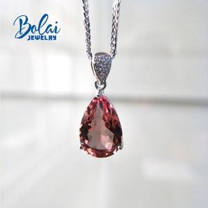 Image 3 - Bolai jewelry,Zultanite  diaspore pear 10*15mm created gemstone pendant  925 sterling silver exquisite ornaments
