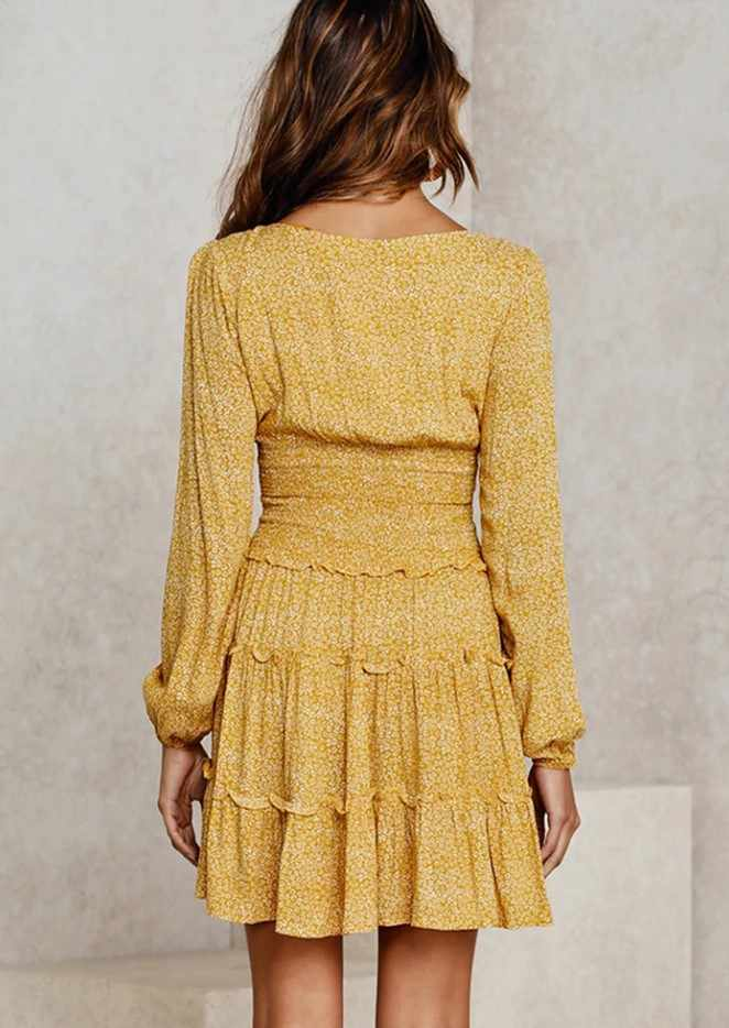 فستان صيفي قصير موديل 2020 ذو رقبة على شكل V فستان مثير بخصر عالٍ ومطبوع بالنقاط فساتين Vestidos بأشرطة خلفية بأشرطة مكشوفة الظهر XXXL