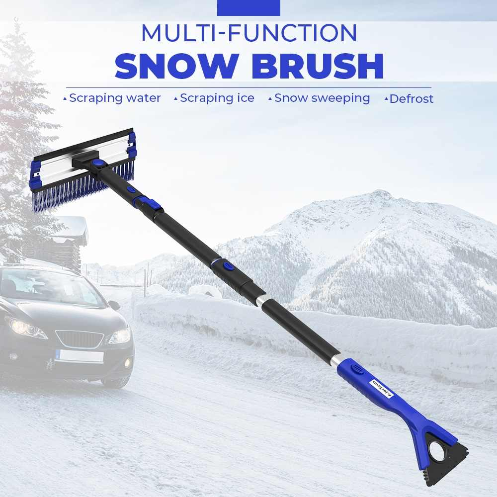 4-in-1 Extendable Snow Shovel Ice Scraper Snow Brush Water Remover For Car Auto SUV Frost Windshield Cleaner Winter Tool
