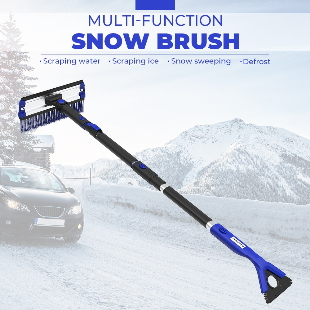 4 in 1 Extendable Snow Shovel Ice Scraper Snow Brush Water Remover For Car Auto SUV Frost Windshield Cleaner Winter Tool|Ice Scraper| |  - title=