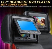 Une paire de lecteur DVD d'appui-tête de voiture de 7