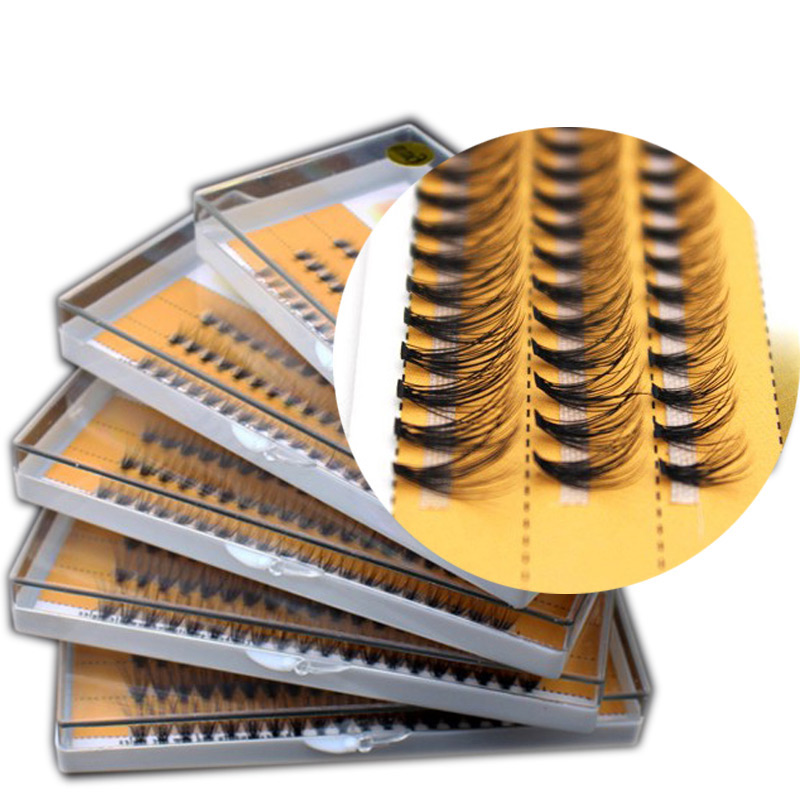 Hot Selling 0.10mm Premade Volume Lash Fans Volume Lashes Individual Lashes Knot With Cluster Eyelashes Private Label