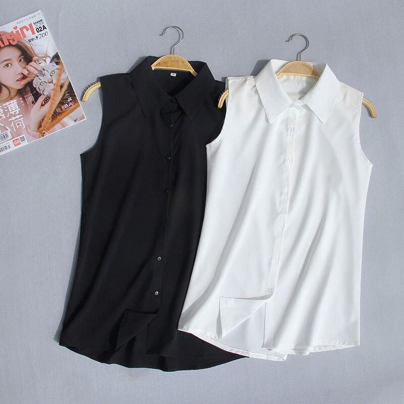 Women Blouse Summer plus Size Sleeveless Chiffon Shirt White Shirt Vest Blusas Ropa De Mujer|Blouses & Shirts| - AliExpress