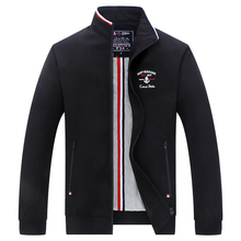 Black Blue White Shark Jacket Men Fashion Casual Stand Colla