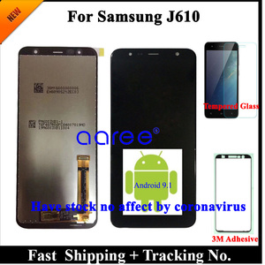 Image 1 - 100% Test  LCD Display For Samsung J610 LCD J6 Plus J610 LCD For Samsung J610 J6 Plus LCD Screen Touch Digitizer Assembly