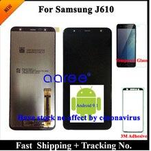 Tela lcd teste 100% para samsung j610, lcd, j6 plus, j610, touch screen lcd, para samsung j610, j6 plus montagem do digitalizador
