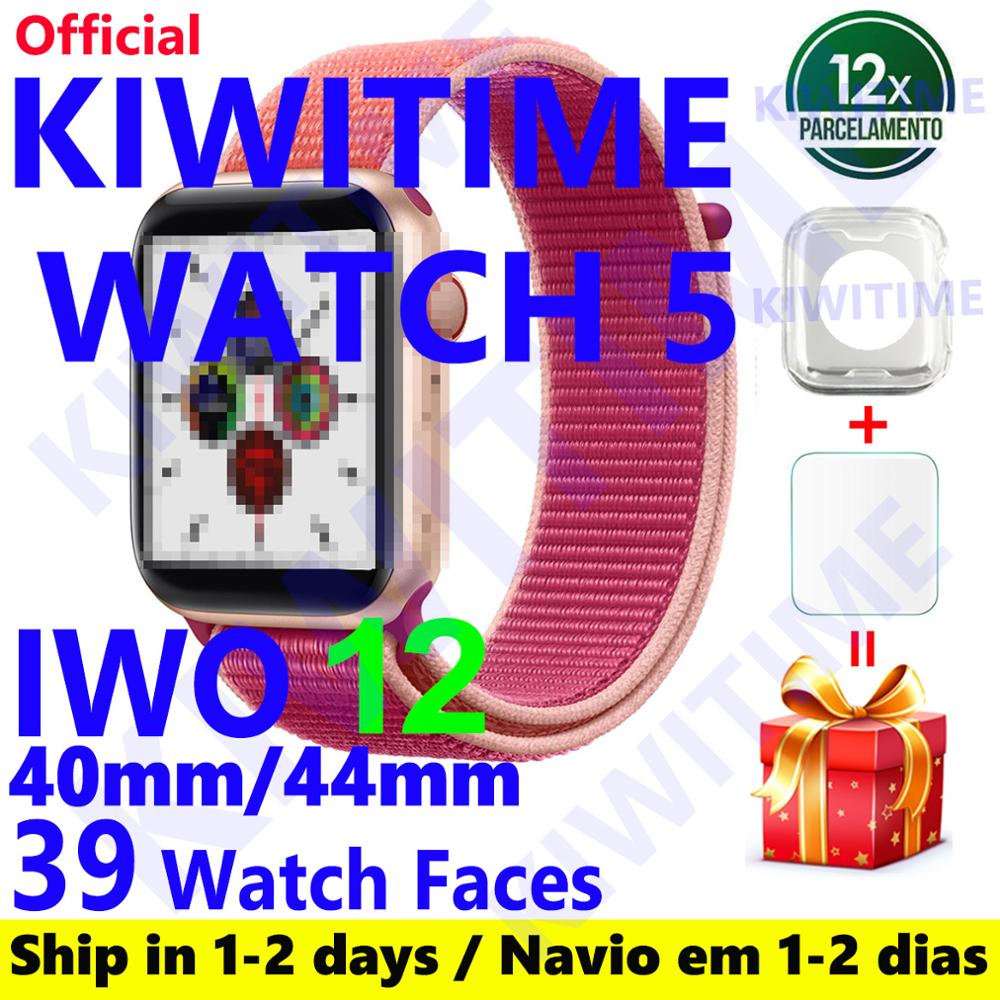 KIWITIME Watch 5 IWO 12 PRO Bluetooth Smart Watch 1:1 SmartWatch 40mm 44mm Case For Apple Android Phone Heart Rate PK IWO MAX 13