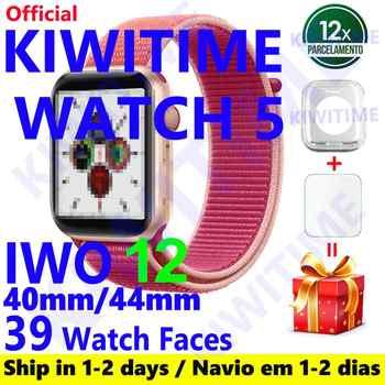 KIWITIME reloj 5 IWO 12 PRO Bluetooth reloj inteligente 1:1 SmartWatch 40mm 44mm caso para Apple teléfono Android de PK IWO MAX 13