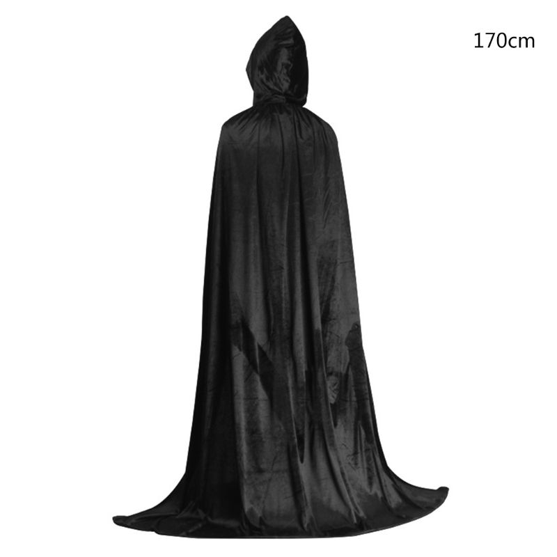 Adult Halloween Glitter Spider Web Cape Cloak with Hood Womens Teens One Size