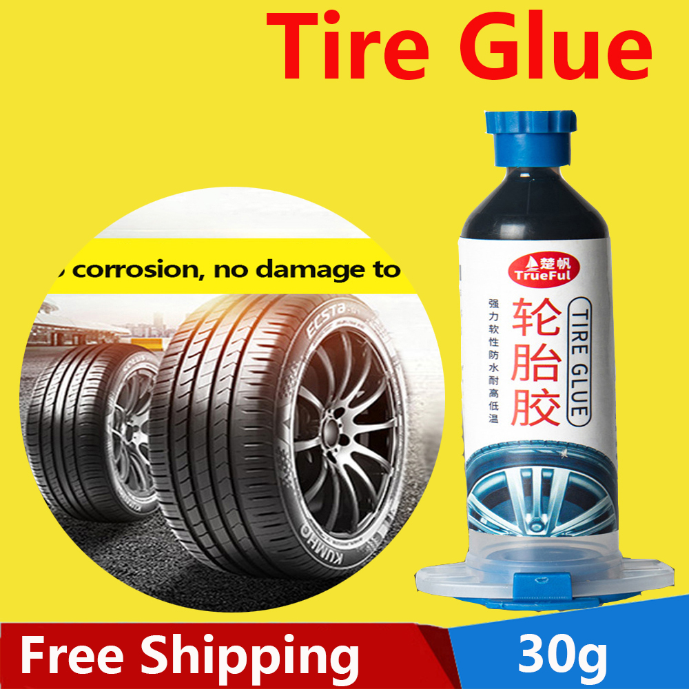Tire Glue Repair Glue Car Special Glue Repair Tire Cracks Strong Black Glue Silicone Adhesive for Tires