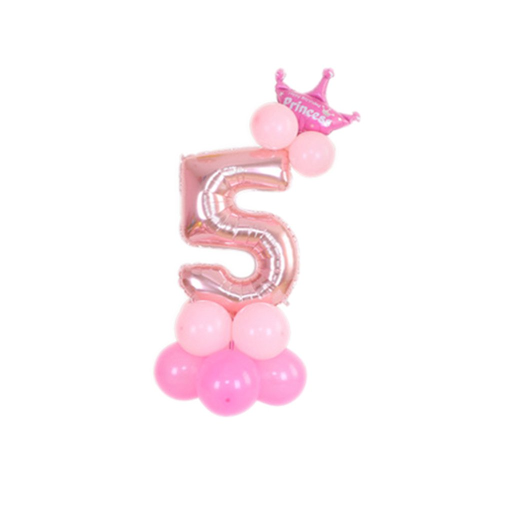 "32"" Number Foil Balloons Set Giant Digit For Happy Birthday Party Decor Wedding Valentine's Day Decoration"