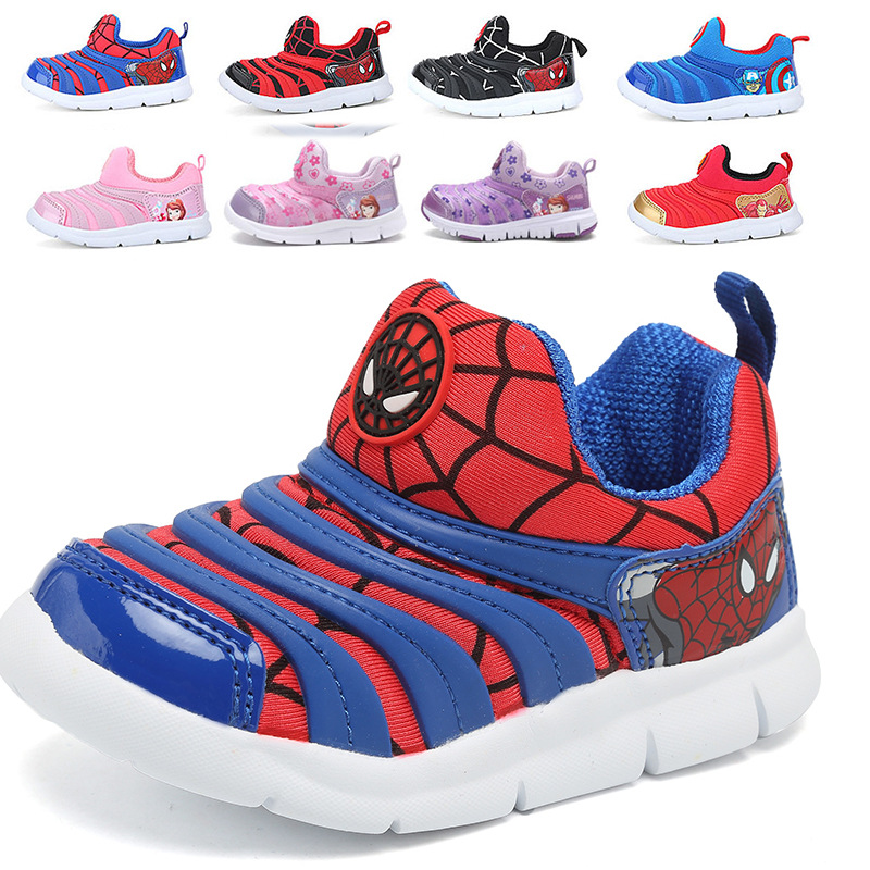 Summer Children Shoes Baby Boy Sneaker Sport Child Light Breathable Casual Shoes Kids Girl Sport Flats Cartoon Captain America