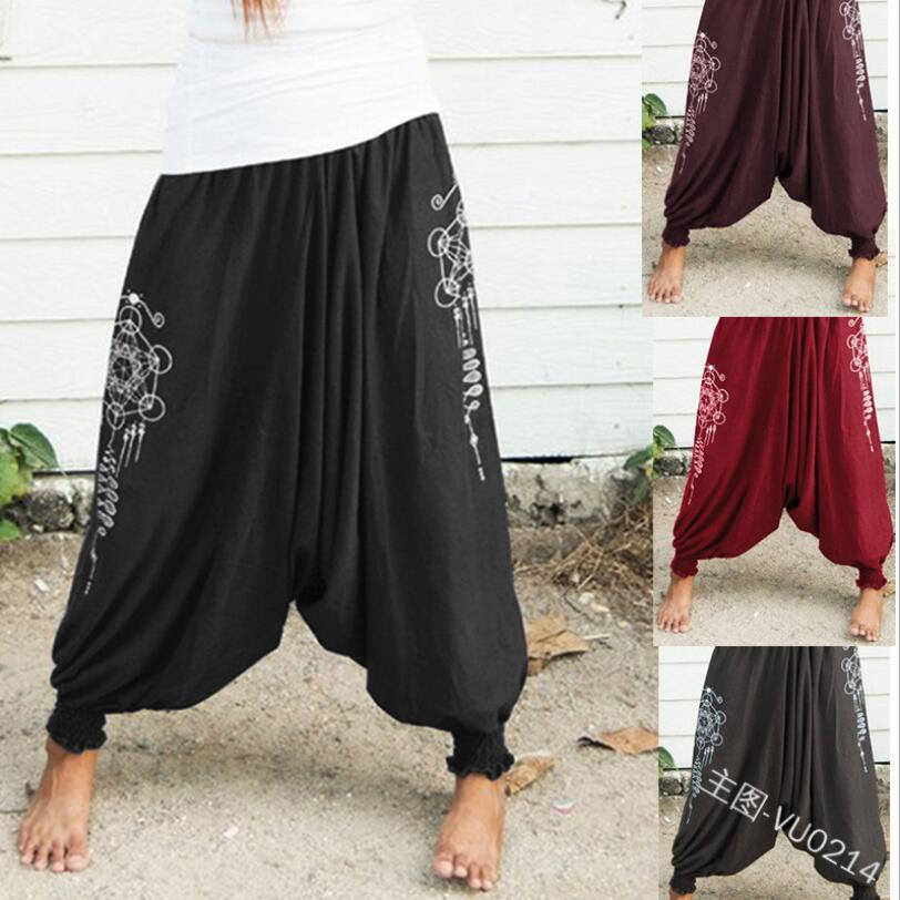 Harem Pants For Men And Women Baggy Cotton Linen Hip Hop Plus Size Wide Leg Trousers New Casual Vintage Long Pants