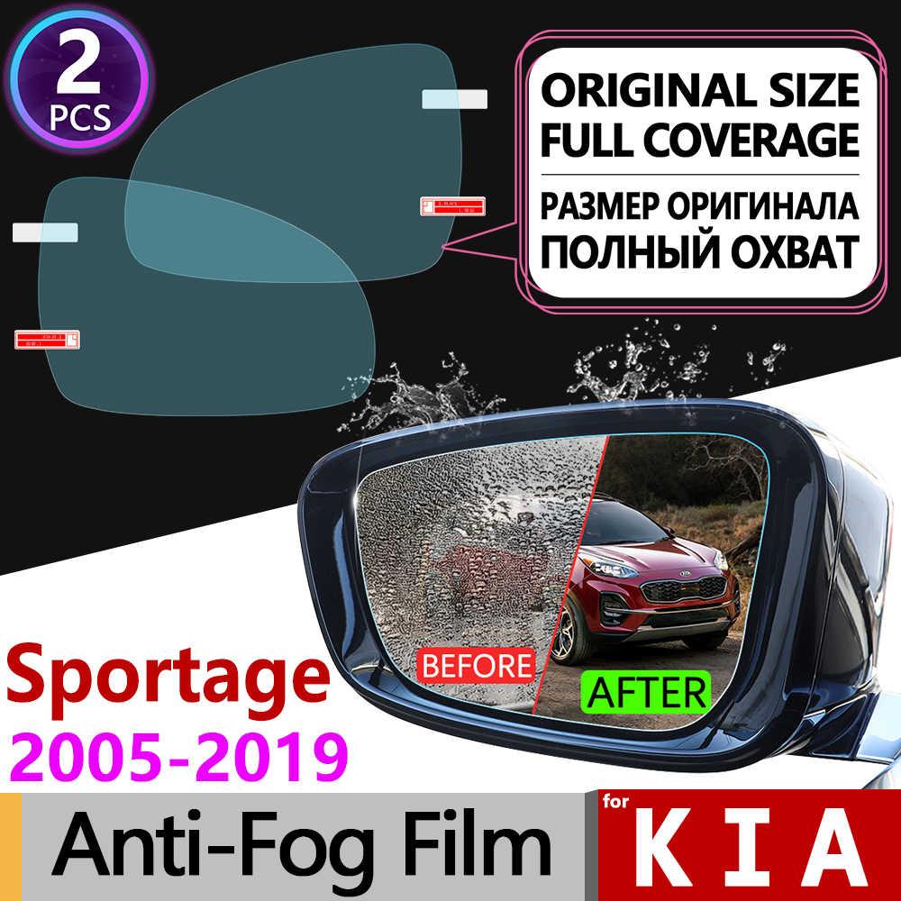 สำหรับ Kia Sportage 2005 ~ 2019 JE KM SL QL ฝาครอบหมอกฟิล์มกระจกมองหลังกันฝนอุปกรณ์เสริม R 2006 2008 2010 2016 2018