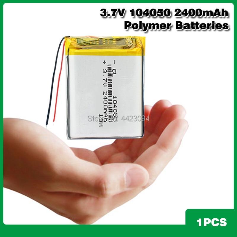 2400 мАч 104050 перезаряжаемый литий-полимерный аккумулятор сменный аккумулятор DIY Аккумулятор для MP3 MP4 DVD MID динамик PDA