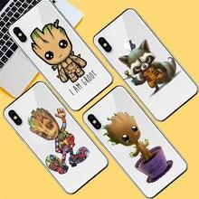 Groot luxury For iPhone X XR XS Max 5 5S SE 6 6S 7 8 Plus phone Case Cover Funda Coque Etui capa shell capinha cat marvel