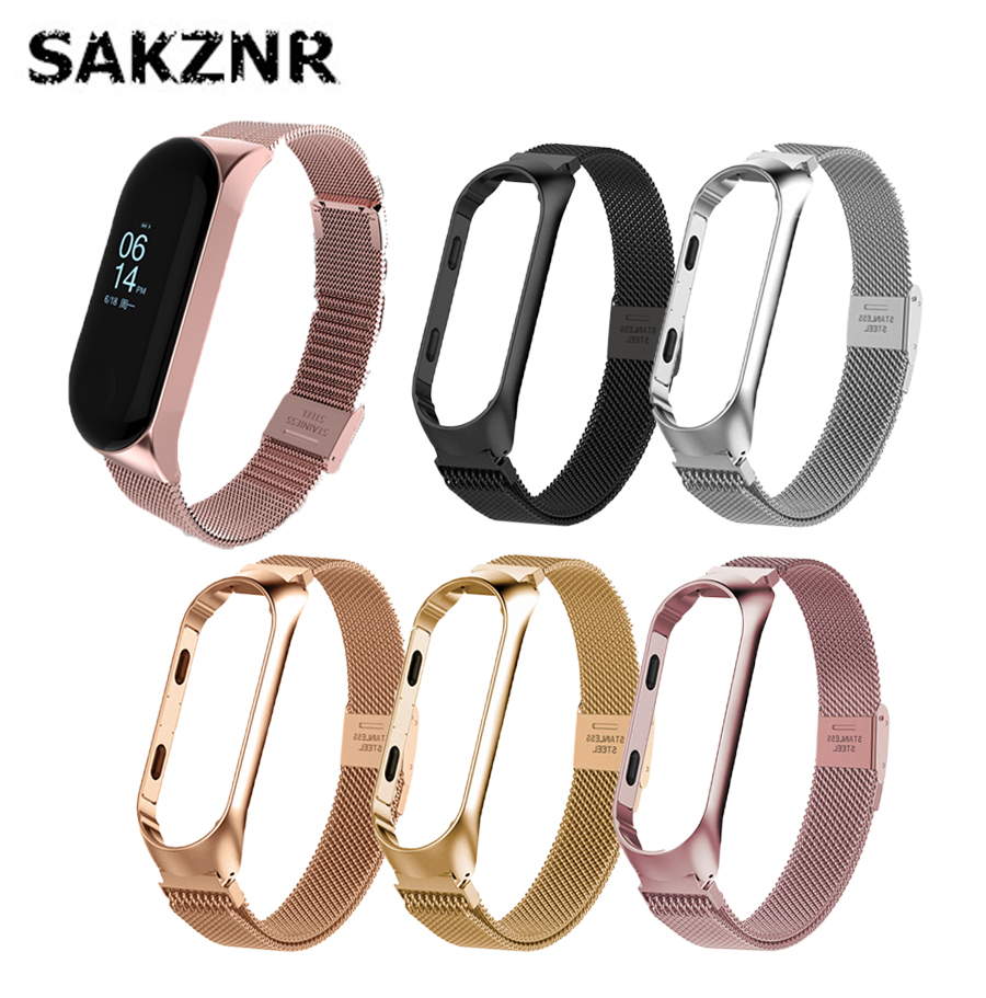 Stainless Steel Original Watch Strap For Mi Band 4 Strap Metal For Mi Band 3 Strap Bracelet For Xiaomi Mi Band 4 Strap Magnetic