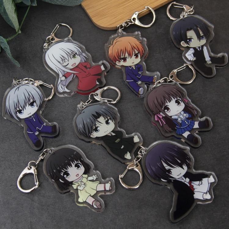 Anime Fruits Basket Souma Kyo Yuki Shigure Honda Toru Cosplay Figure Acrylic Keychain Pendant Keyring Gifts