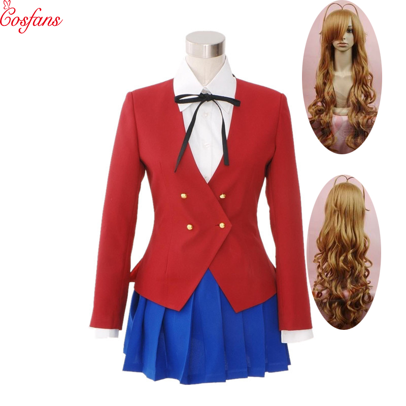 Japan Anime Dragon X Tiger Toradora Aisaka Taiga Cosplay School Uniform Costume Halloween Cosplay Costumes And Wig Free Delivery