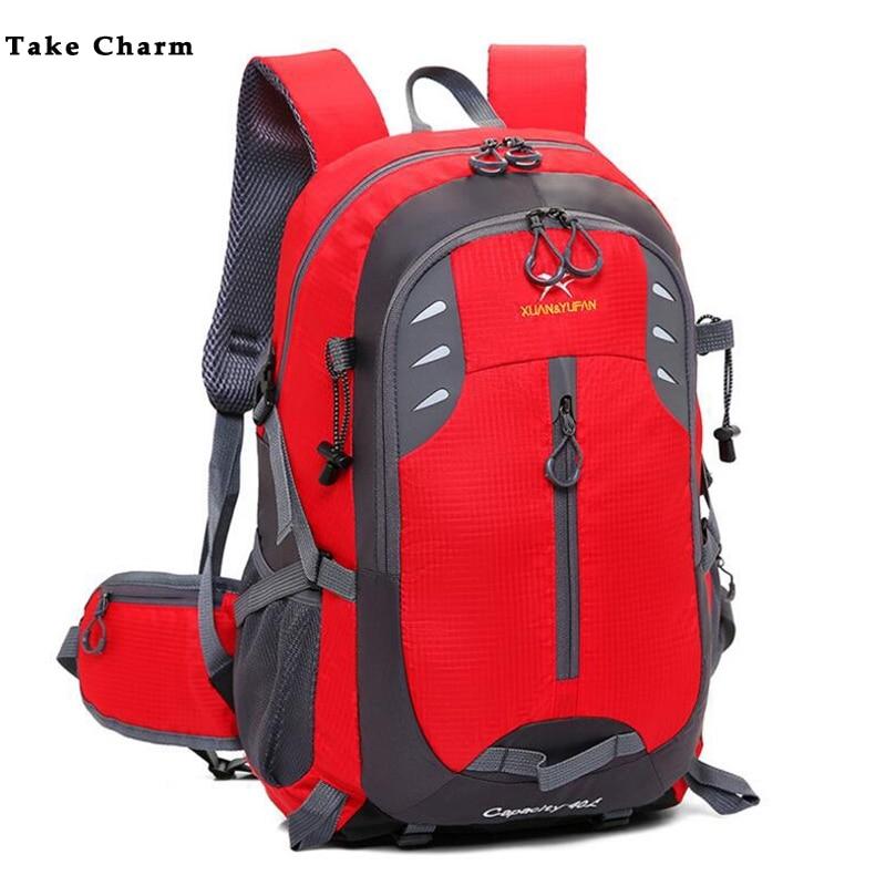 Simple Large Capacity 2019 Men Travel Backpack 40 L Woman Light Waterproof Nylon Sports Backpack