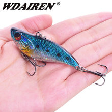 1Pcs Sinking VIB Vibration Hard Lures 60mm 14g Wobblers Fishing Lure Winter ice Bass Fishing bait crankbait Fishing Tackle(China)
