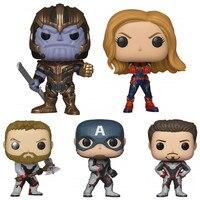 FUNKO POP Avengers 4 Endgame Movie Collection Dolls Iron Man American Captain Tyrants Kid Birthday Gift Model Toys Original Box