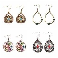 4 Pair/Lot Ethnic Multicolor Geometric Alloy Statement Earrings Retro Bohemia Drop Earrings Set Vintage Jhumka Earrings цена в Москве и Питере