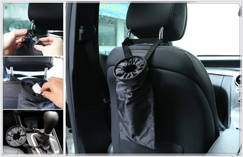 Car seat back garbage bag Oxford cloth portable Sundries for BMW F07 F10 F11 M5 Z4 E85 E89 E61 E60 E63 i8 and i3 E39 image