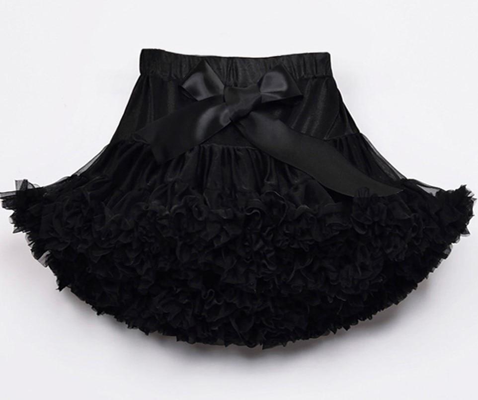 Пышные юбочки для девочек; летняя одежда для девочек; юбка-пачка; Одинаковая одежда для мамы и дочки; юбка для танцев для девочек - Цвет: Черный