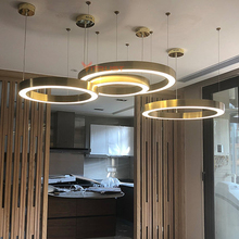 Modern Ring Chandeliers Lamps Project Lights Ring Lamps Pendant Chandelier for Lights Fixture Dining Room Living room Restaurant
