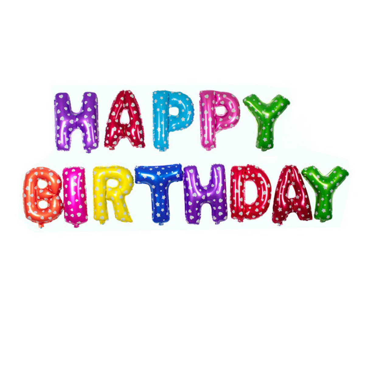 16 polegada Letras FELIZES Balões Folha De ANIVERSÁRIO Feliz Aniversário DIY Fontes Do Chuveiro de Bebê Decoração Do Partido Dos Miúdos Do Alfabeto Balões de Ar