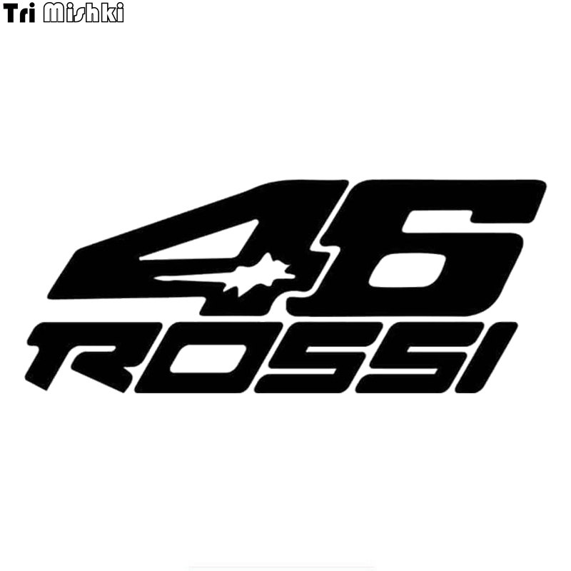 Tri Mishki HZX1145# 46 Rossi Motorcycle Rider Car Sticker Funny Vinyl Decals Motorcycle Accessories Stickers