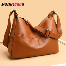 MOLIHUAKAI Hot 4 Color Women's Multiple Pockets And Large Capacity Bags Ladies Soft Leather Shoulder Bags For Women 2020(China)