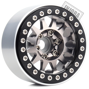 Image 4 - INJORA 4 adet Metal 1.9 Beadlock jant lastikleri seti 1/10 RC paletli araba eksenel SCX10 90046 Traxxas TRX 4 redcat GEN 8