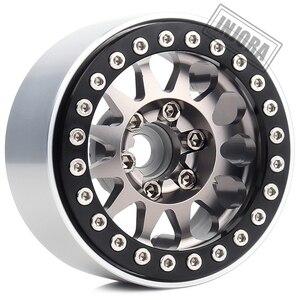 Image 4 - INJORA 4PCS โลหะ 1.9 Beadlock ล้อยางชุดสำหรับ 1/10 RC Crawler Axial SCX10 90046 Traxxas TRX 4 redcat GEN 8