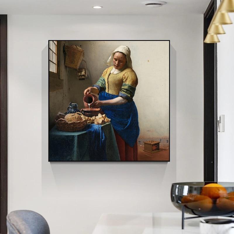 Нидерландский художник johannes the milkmaid плакат и принты